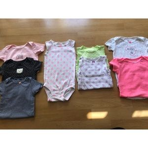8 pc Carter's summer onsie bundle size 24M